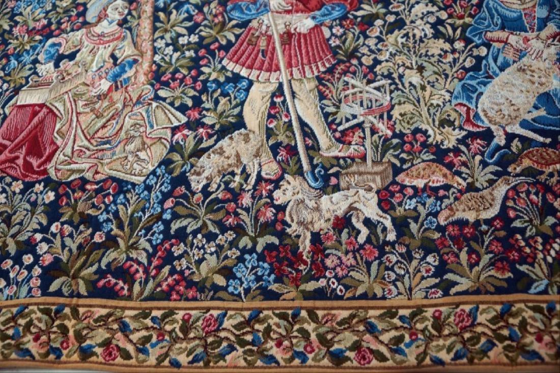 """French Tapestry """"Lle Travail De La Laine"""""""
