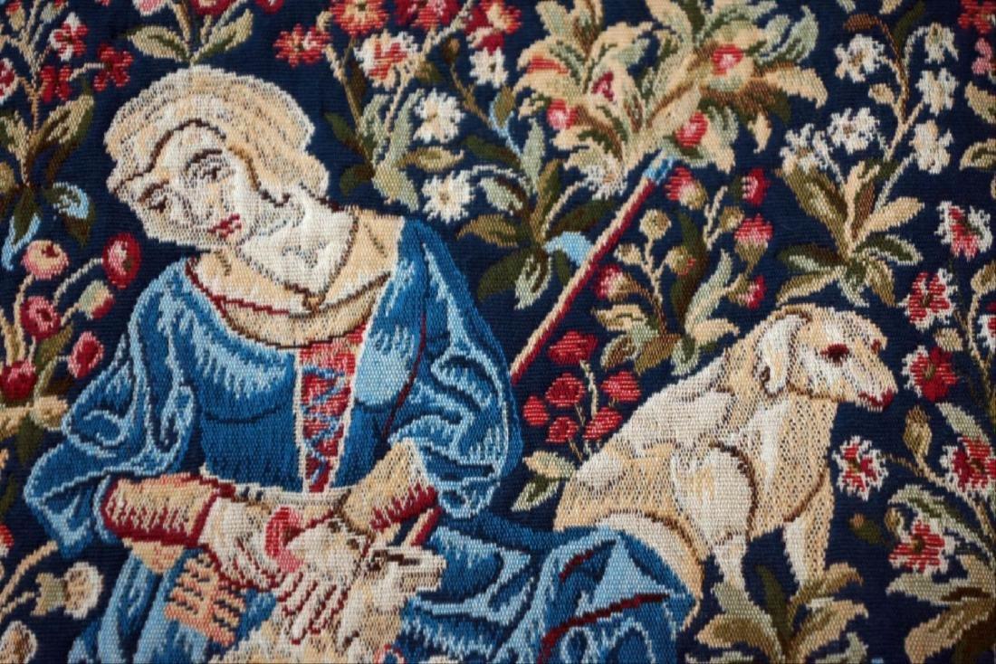 """French Tapestry """"Lle Travail De La Laine"""" - 2"""