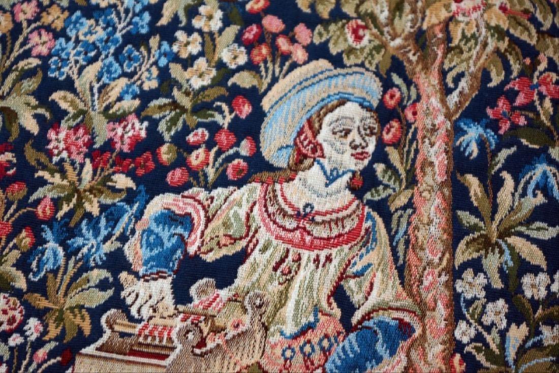"""French Tapestry """"Lle Travail De La Laine"""" - 4"""