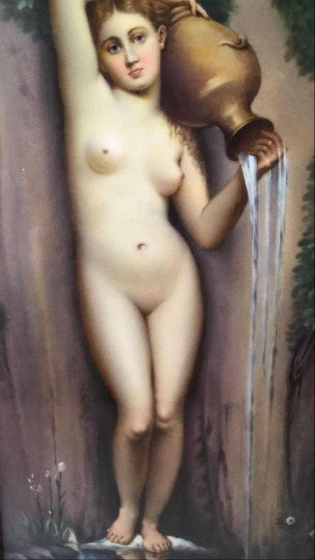Kpm Porcelain Plaque Depicting A Classical Nude Figure - 2