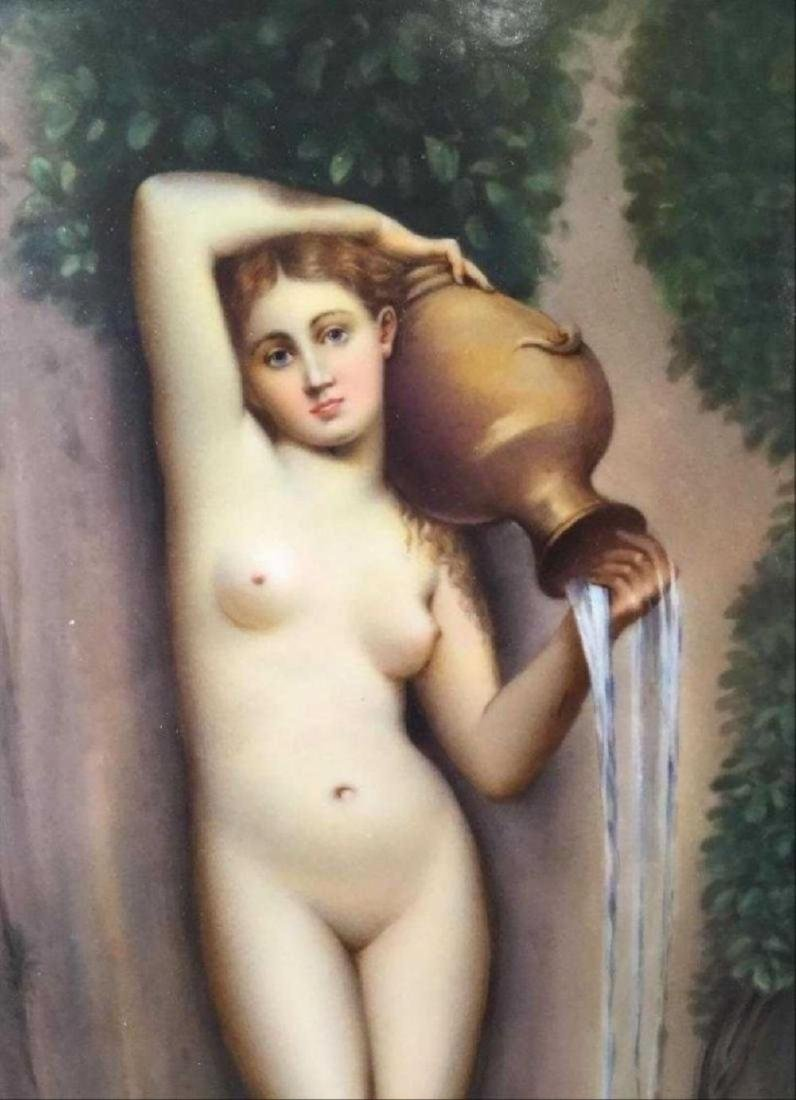 Kpm Porcelain Plaque Depicting A Classical Nude Figure - 3