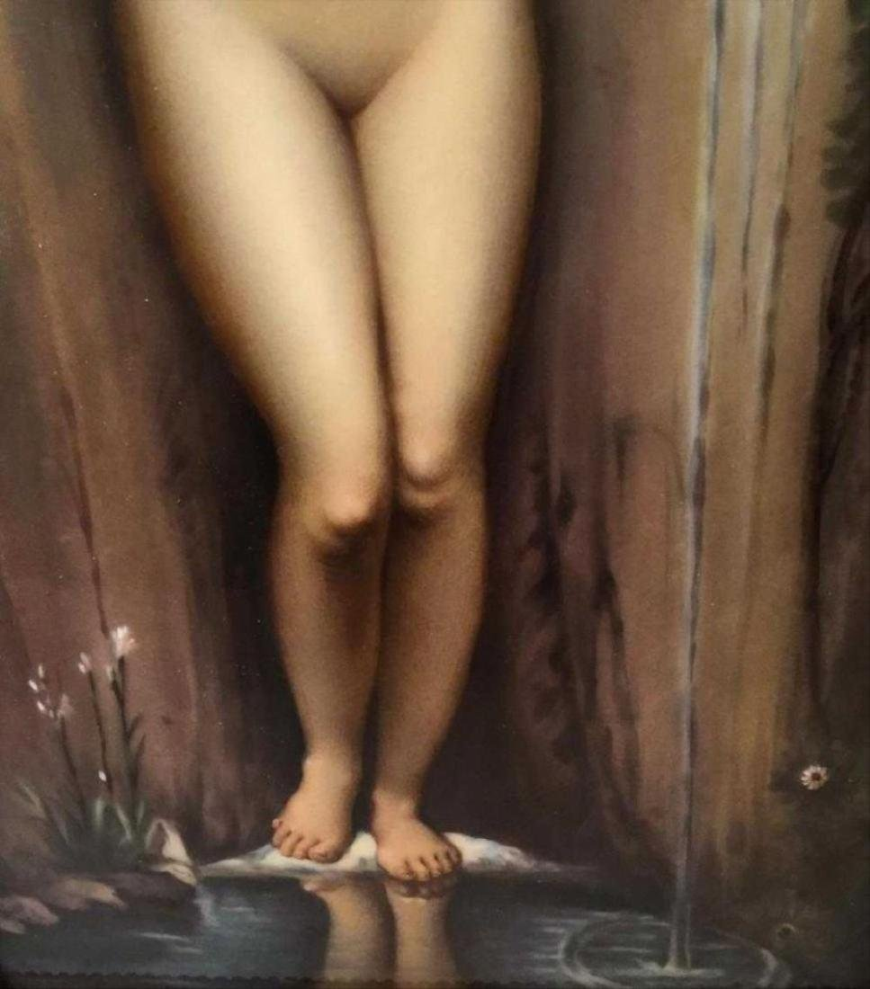 Kpm Porcelain Plaque Depicting A Classical Nude Figure - 4