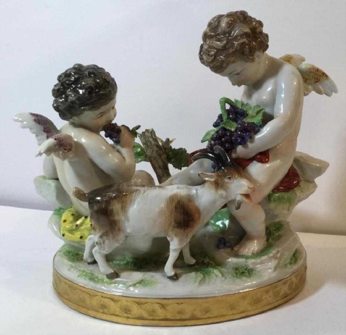 19Th Century Capodimonte Bacchanal Figural Group