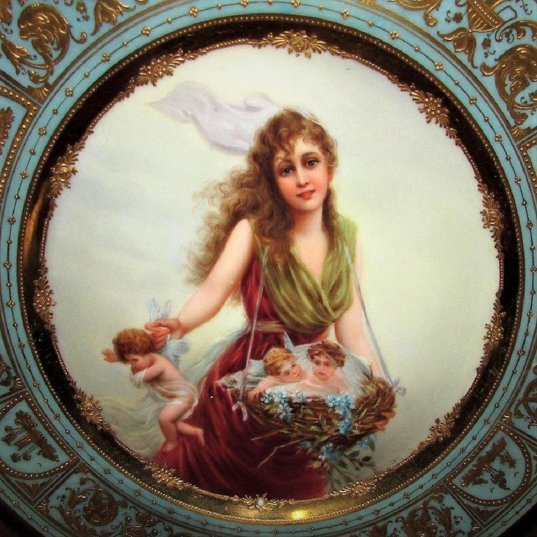 Antique Royal Porcelain Cabinet Plate Vienna Portrait - 3