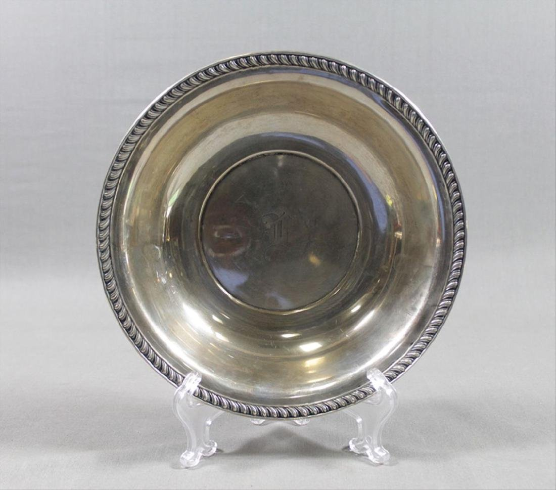 "Small Sterling Silver Bowl 3.5"" Diam 1"" H 1.7 Oz"