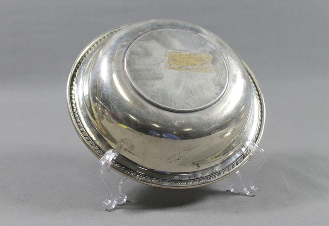 "Small Sterling Silver Bowl 3.5"" Diam 1"" H 1.7 Oz - 3"