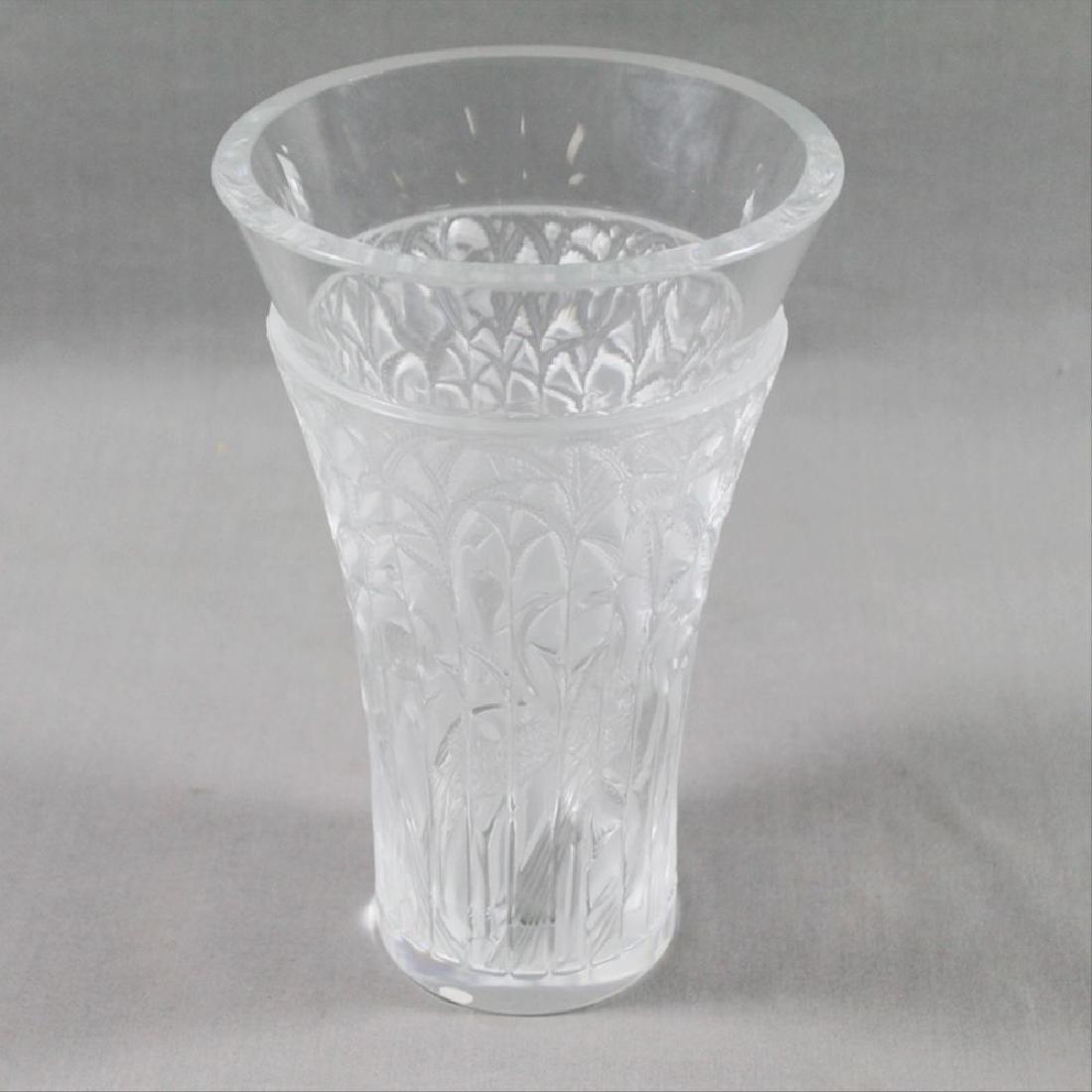 Lalique Glass Vase