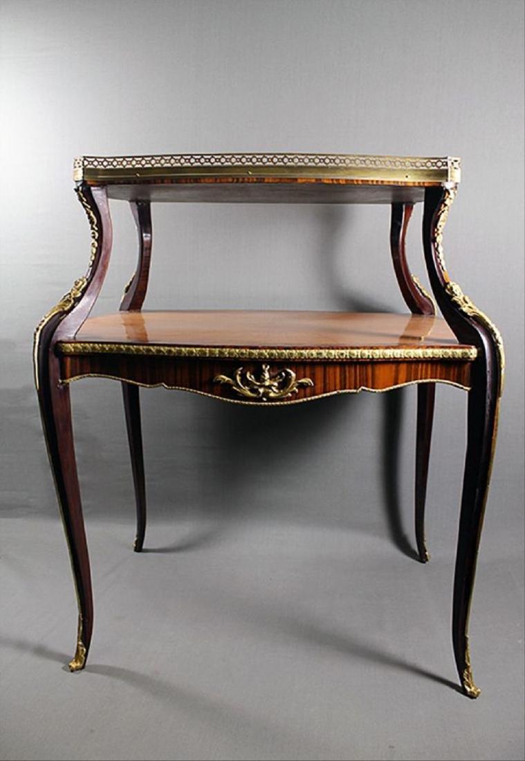 "Louis Xv Style Bronze Mounted Tea Table 35 1/4"" X 32"" X"