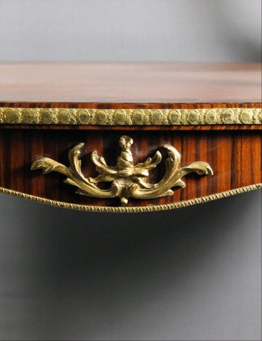 "Louis Xv Style Bronze Mounted Tea Table 35 1/4"" X 32"" X - 3"