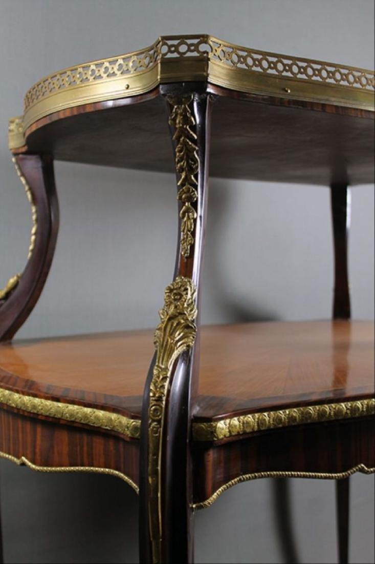 "Louis Xv Style Bronze Mounted Tea Table 35 1/4"" X 32"" X - 4"