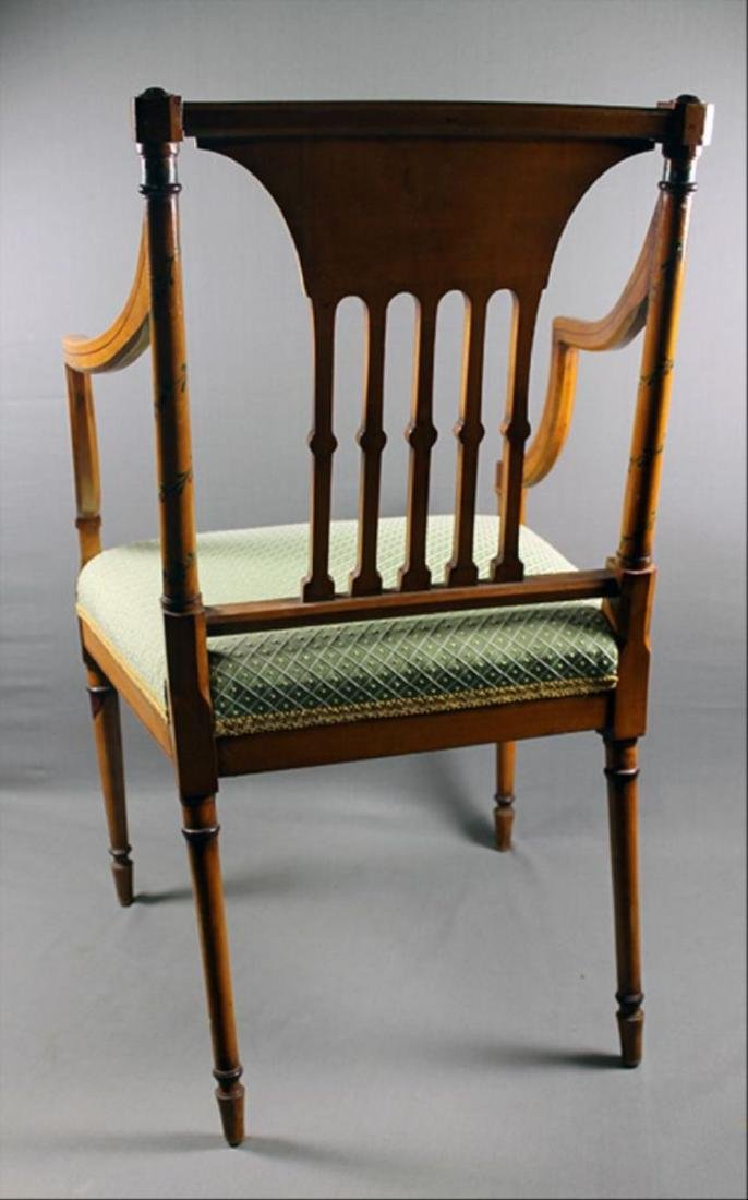 """Painted Adam Style Armchair 34 7/8"""" 22 1/2"""" 18 3/4"""" - 3"""