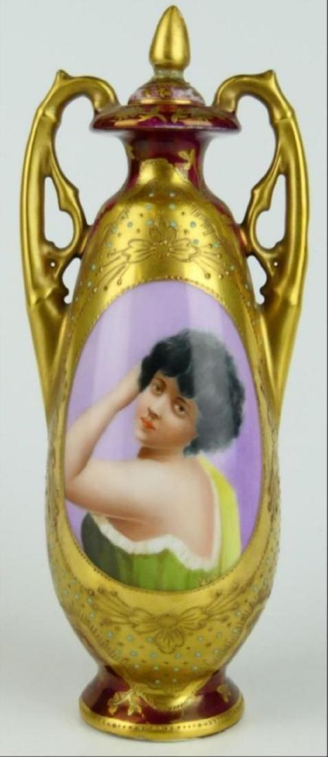 Royal Vienna Porcelain Covered Portrait Bottle