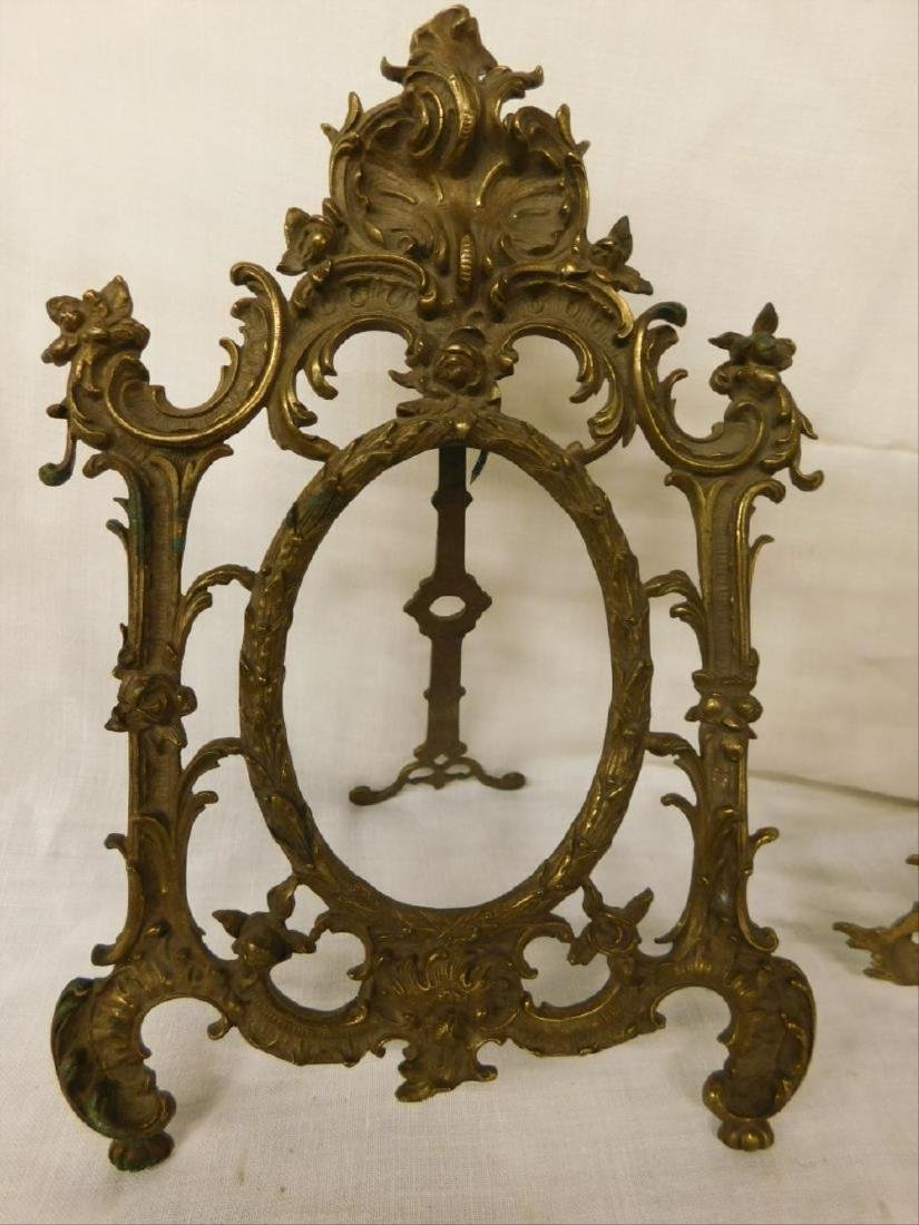 2 Vintage Brass Table Top Picture Frames - 4