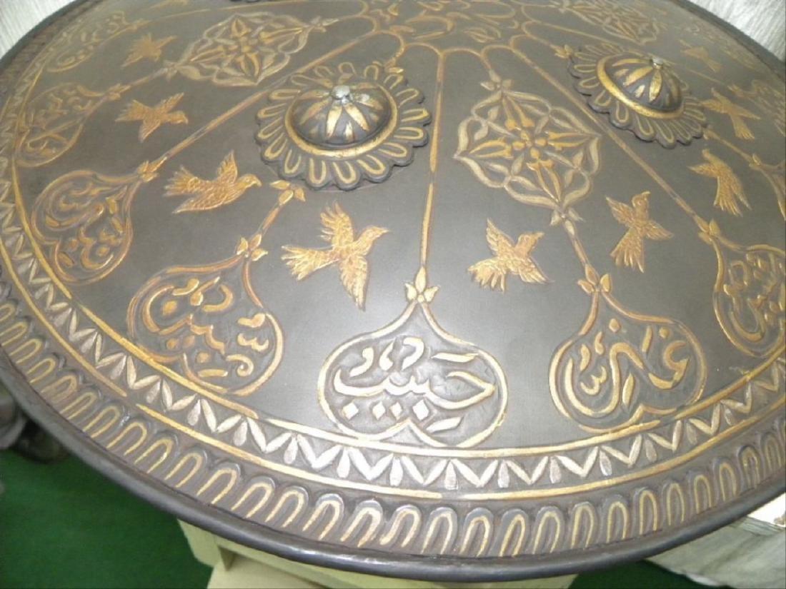 Antique Persian Mughal Warrior Shield 16 Bird & Arabic - 5