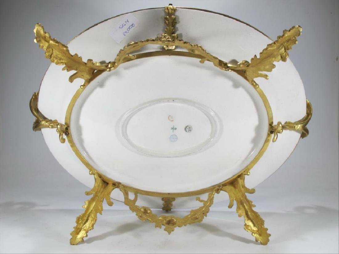 Antique French Sevres Porcelain & Gilt Bronze Tray - 5