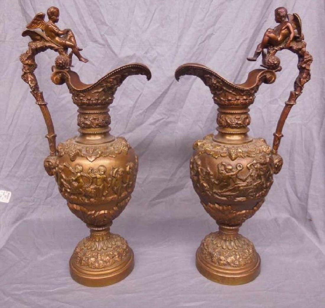 Pr Renaissance Style Bronze Ewers