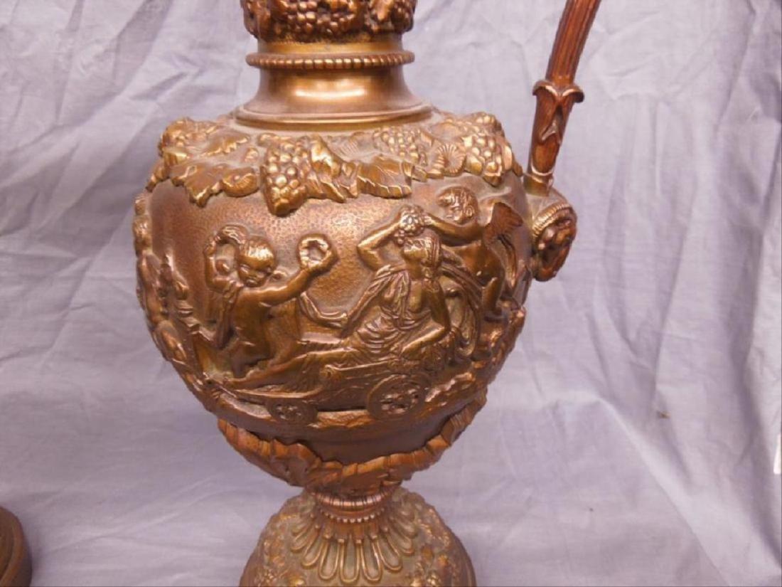 Pr Renaissance Style Bronze Ewers - 4