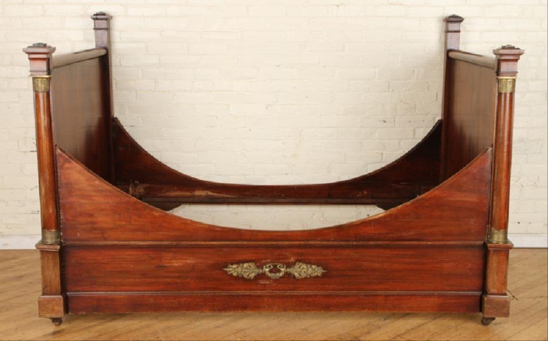 Late 19Th C French Mahogany Bronze Mounted Daybed