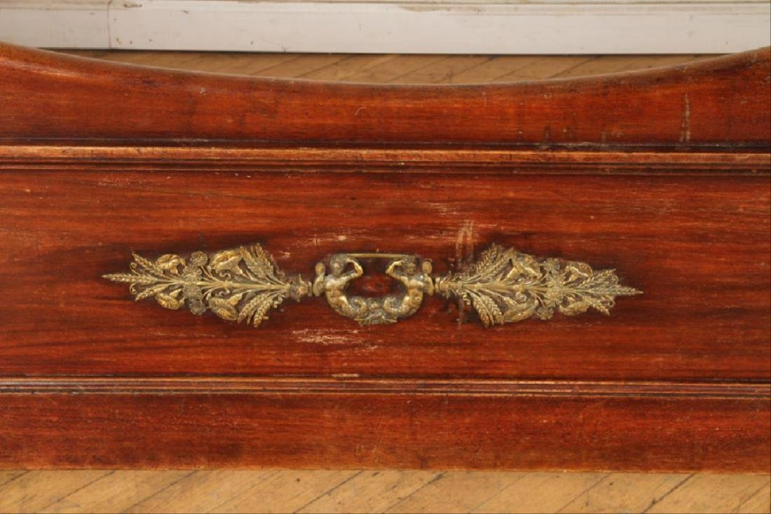 Late 19Th C French Mahogany Bronze Mounted Daybed - 4