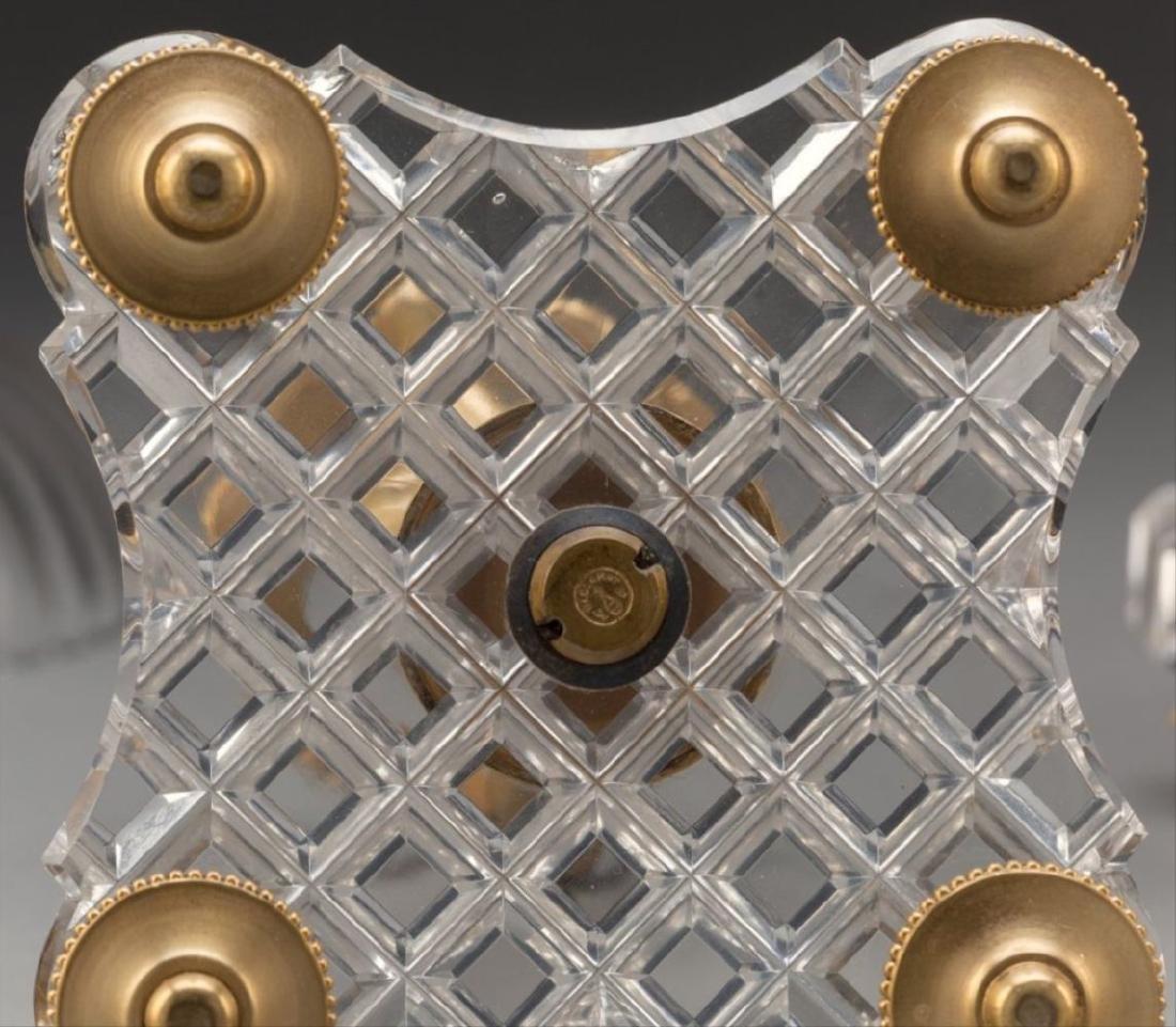 Three-Piece Baccarat Gilt Bronze And Cut-Glass Figural - 3