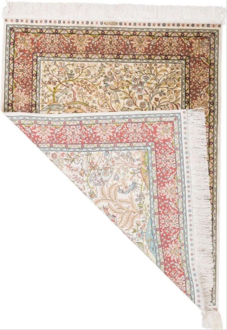Persian Silk And Bullion Prayer Rug 5 Feet - 2