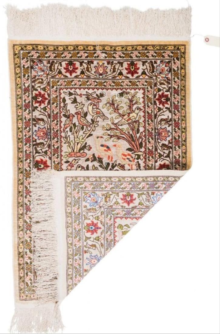 Persian Silk And Bullion Prayer Rug 3.5 Feet - 2