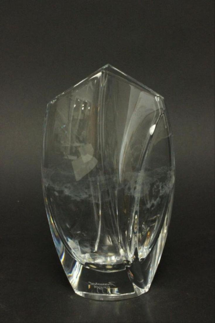 Baccarat Glass Vase Approx. 9""