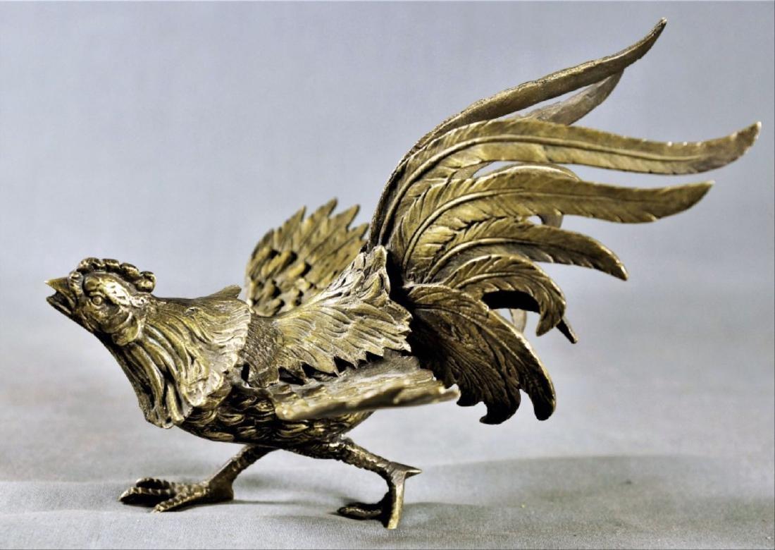 Pair Of Gilt Decorated Metal Birds - 3