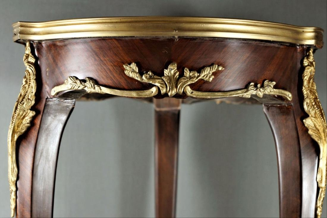Pr. Louis Xv Style Marble Top Tables - 5