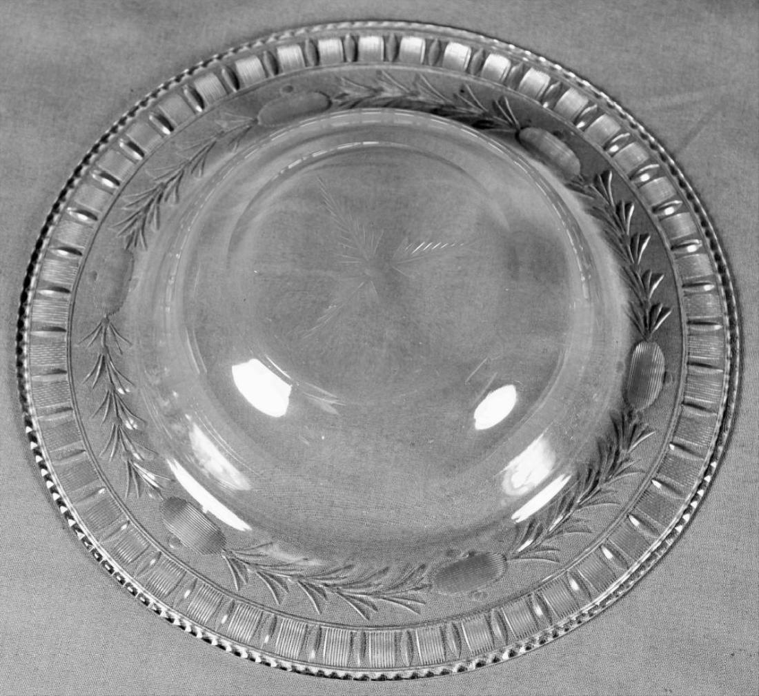 Twelve Etched Glass Bowls - 3