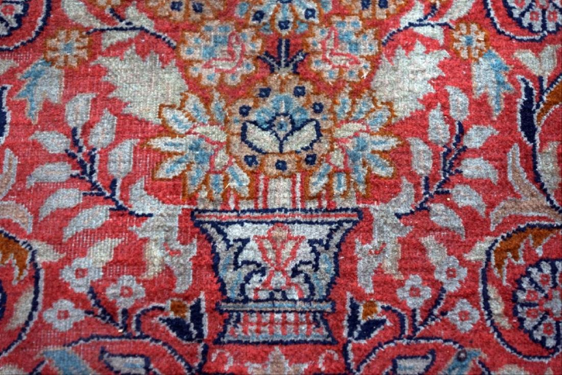 8' X 11' Blue And Red Tabriz Area Ru - 2