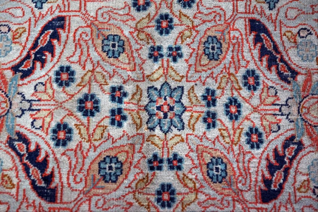 8' X 11' Blue And Red Tabriz Area Ru - 4