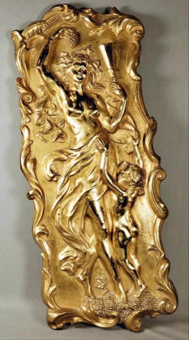 Gilt Bronze Plaque
