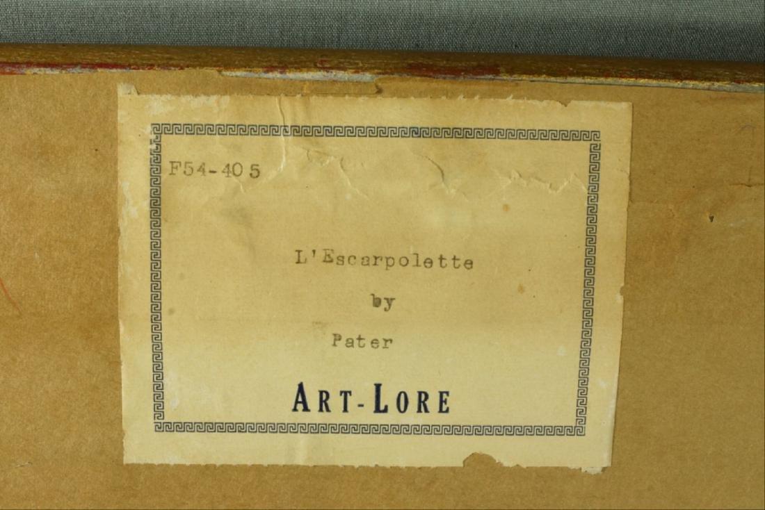 Original L'Escarpolette Painting By John Baptiste - 3