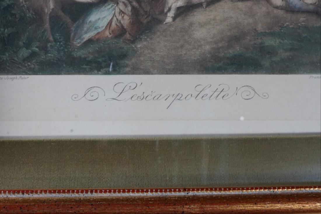 Original L'Escarpolette Painting By John Baptiste - 4
