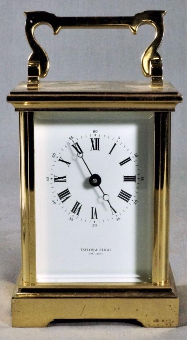 English Brass Carriage Clock