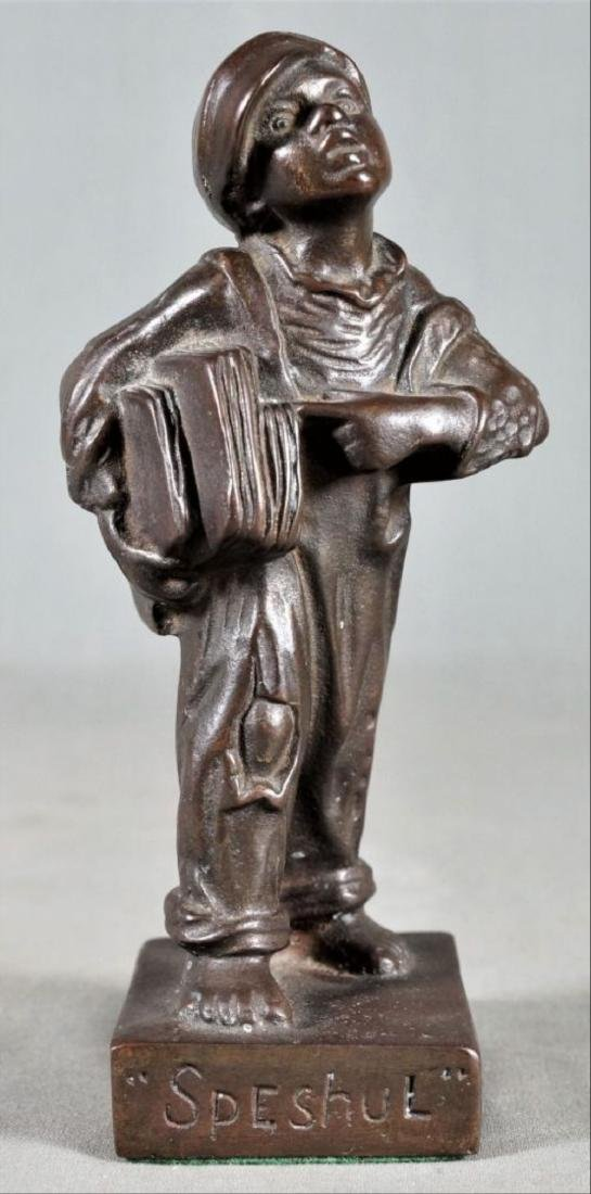 Small Bronze Figure Of A Boy