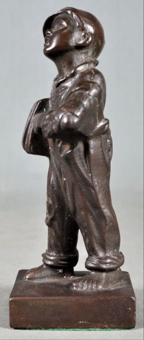Small Bronze Figure Of A Boy - 2