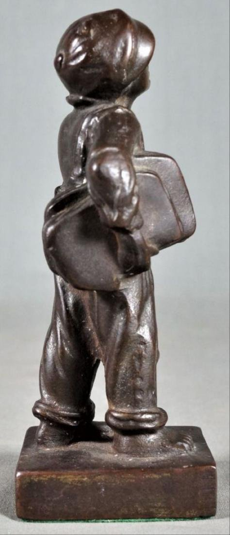 Small Bronze Figure Of A Boy - 4