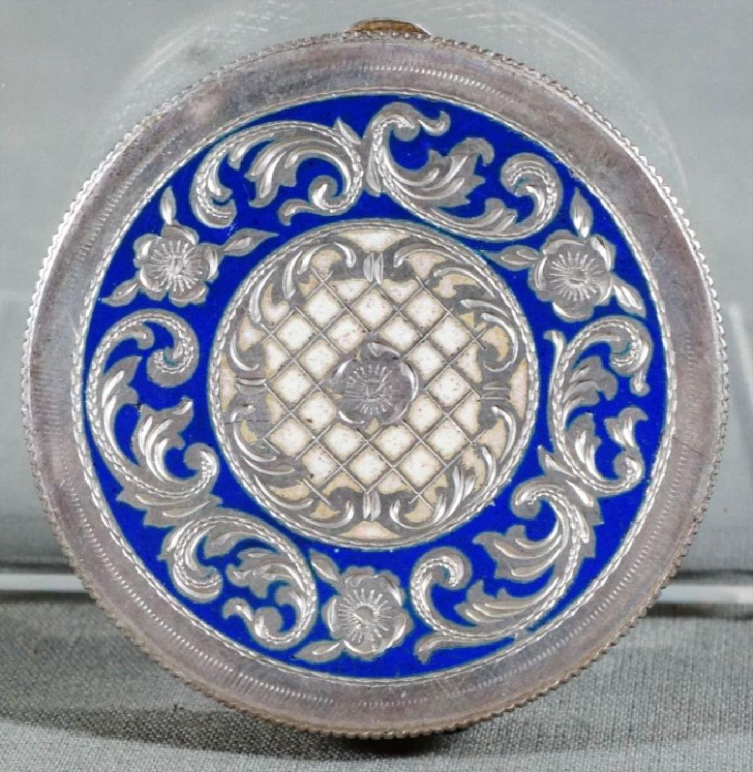 Silver And Enamel Compact