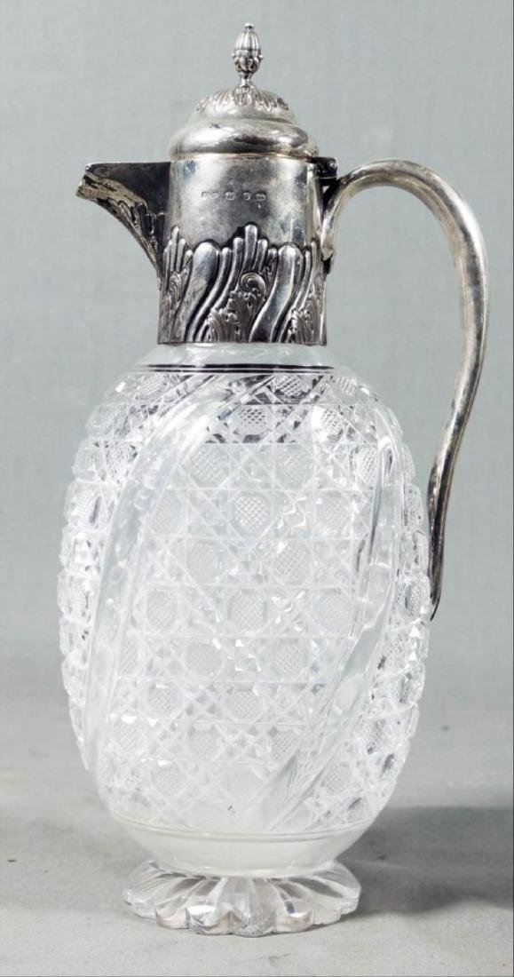 Cut Glass And English Silver Decanter