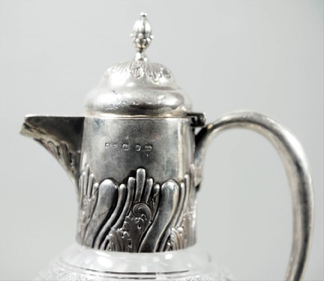 Cut Glass And English Silver Decanter - 2