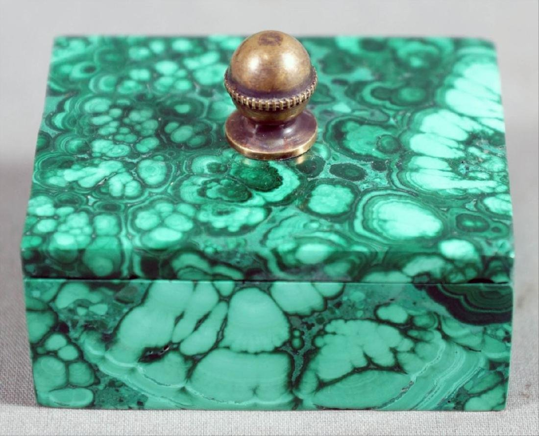 Russian Malachite Box