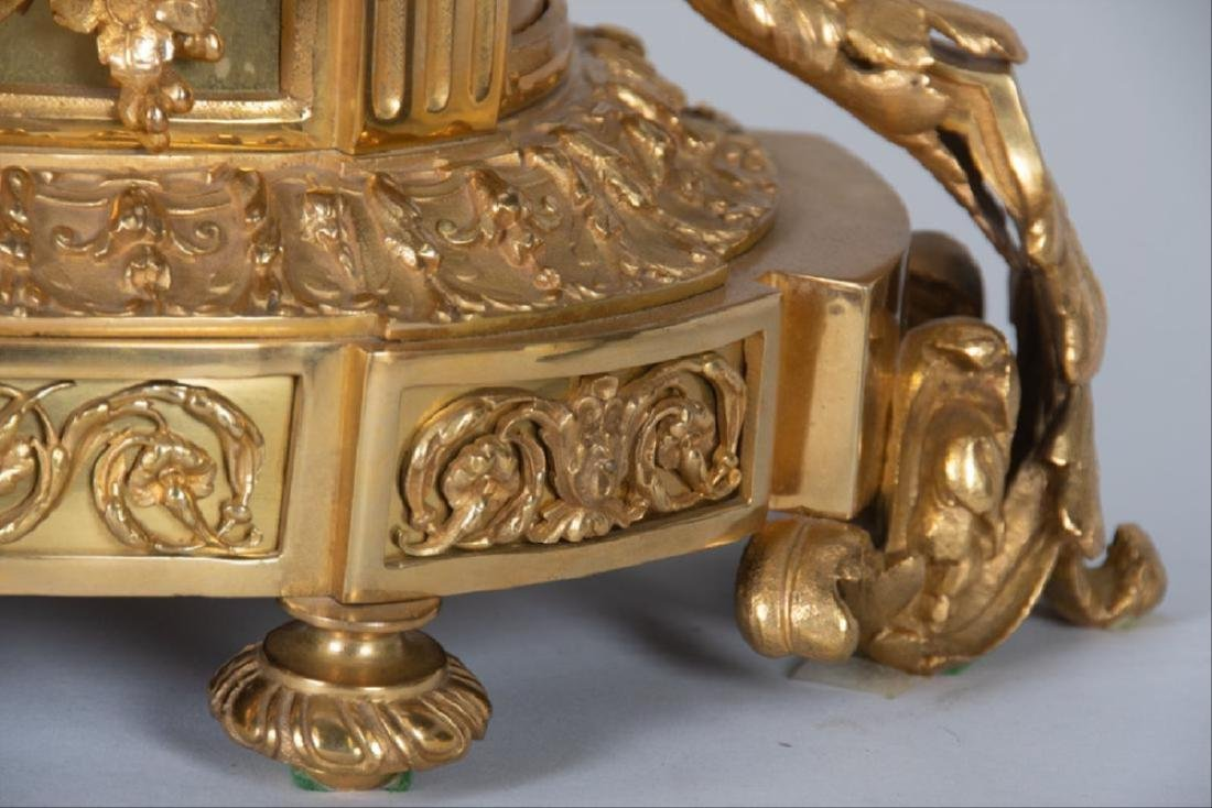 19Th Century French Bronze & Gilt Bronze Figural Mantle - 2