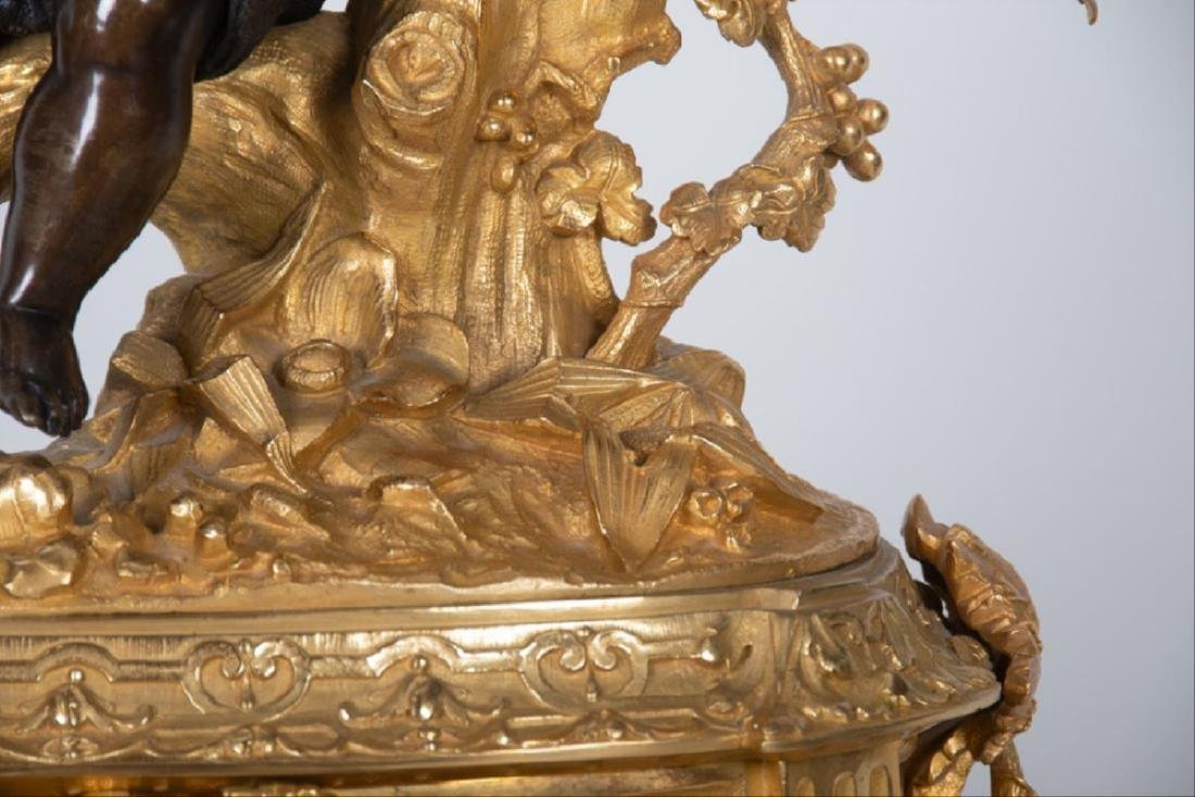 19Th Century French Bronze & Gilt Bronze Figural Mantle - 5