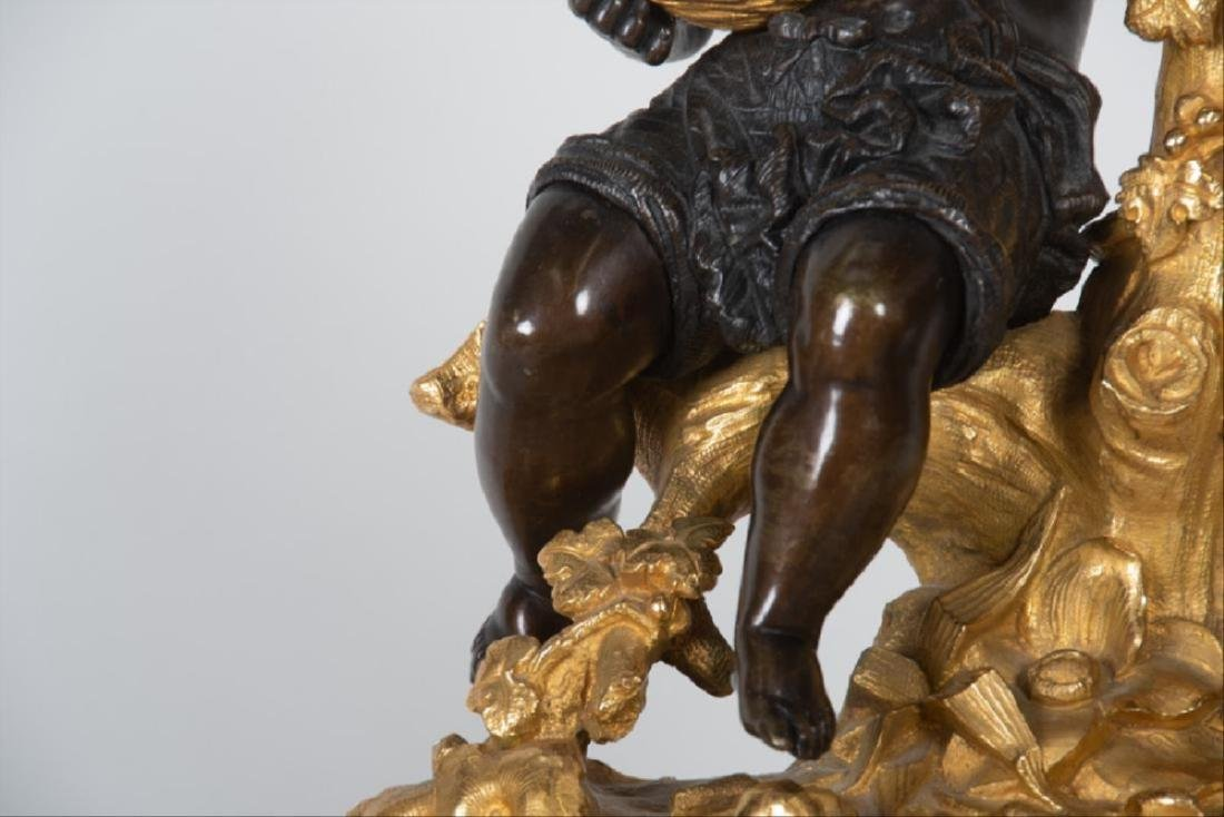 19Th Century French Bronze & Gilt Bronze Figural Mantle - 6