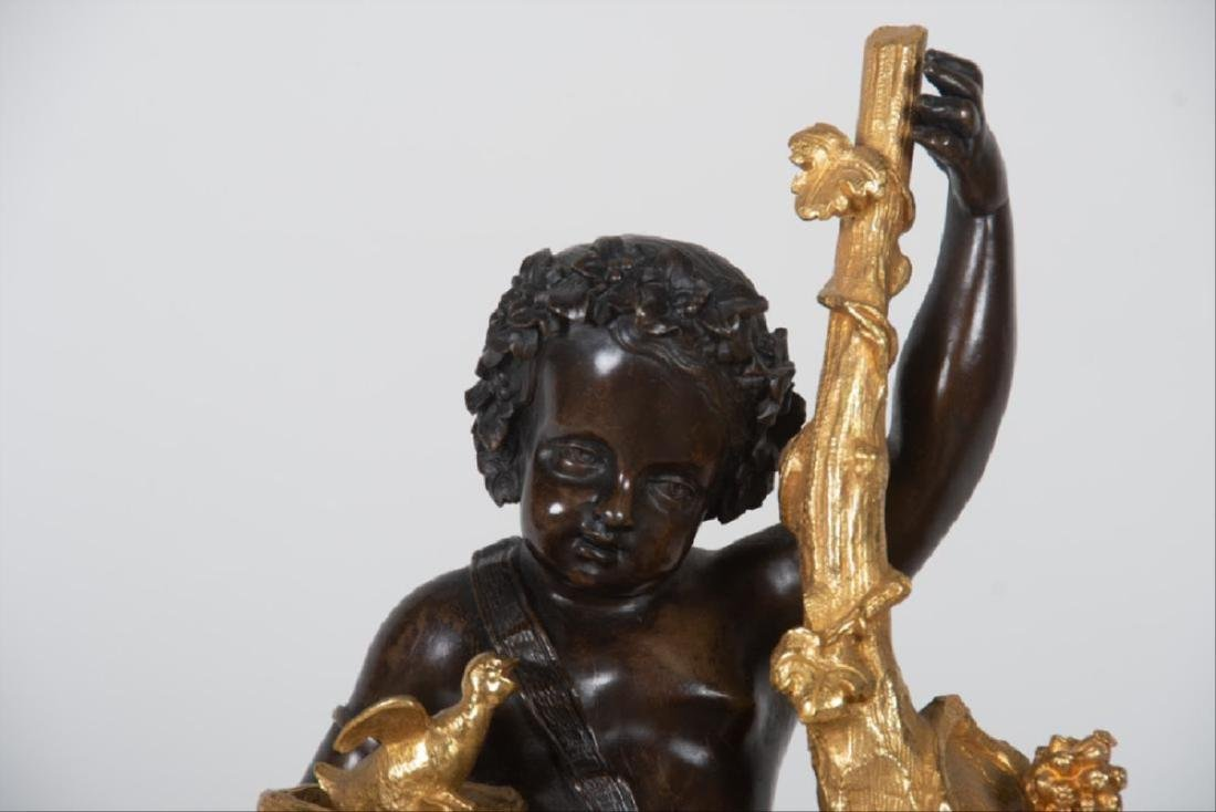 19Th Century French Bronze & Gilt Bronze Figural Mantle - 7