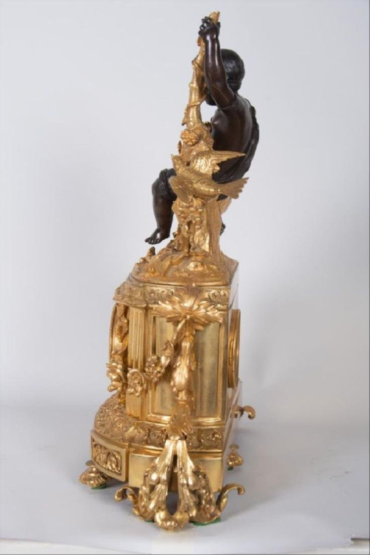 19Th Century French Bronze & Gilt Bronze Figural Mantle - 8