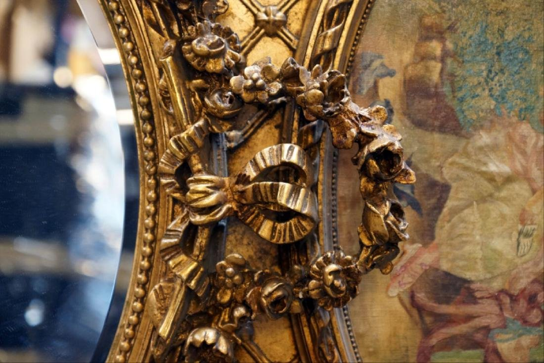Large Gilded Floral Trumeau Mirror - 5