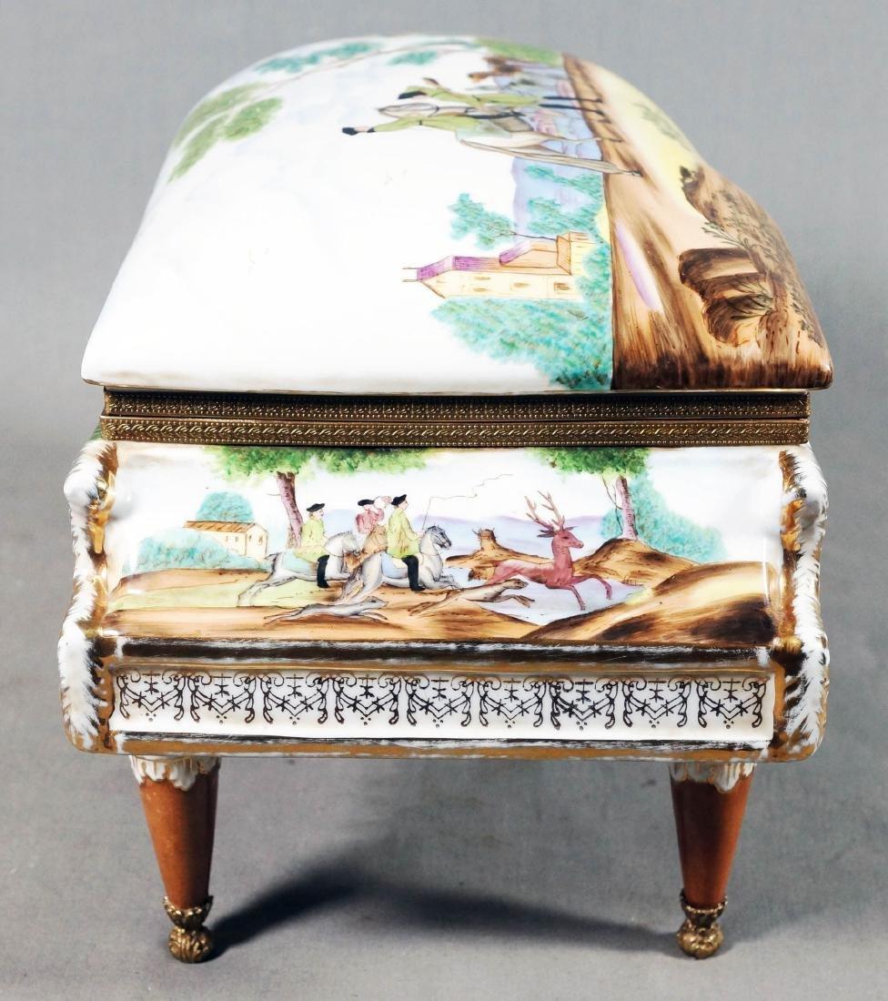 A26) Porcelain Piano Shaped Box - 3